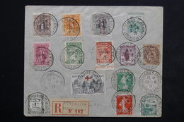 FRANCE - Enveloppe En Recommandé De Versailles Congrès De La Paix En 1919 , Affranchissement Franco / Grec  - L 23507 - Marcophilie (Lettres)