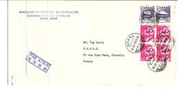 JAPON AFFRANCHISSEMENT COMPOSE SUR LETTRE POUR LA FRANCE 1963 - Brieven En Documenten