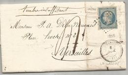 MORBIHAN - LA GACILLY PC 1357/TPND N°14 Laiteux-Taxée-Càd Perlé T.22 - 1855 - 1853-1860 Napoleon III