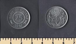 Guyana 25 Cents 1991 - Guyana