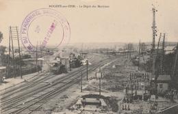 CPA:NOGENT SUR OISE (60) TRAIN AU DÉPÔT DES MACHINES..ÉCRITE - Nogent Sur Oise