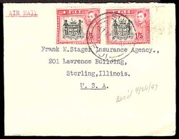 BC - Fiji. 1947. Suva - USA. Airmail. Env. Fkd. 1/5 Sh. X2. - Non Classés