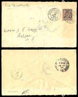 CHINA. 1899 (21 Jan). French P.O. Office. Shanghai - New Brunswick / Canada. Via Yokohama, Glasgow (Scotland - UK) RRR A - China