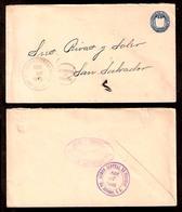 SALVADOR, EL. 1895 (26 Apr). La Libertad - S. Salvador. 5cts Stat Env. VF. - Salvador
