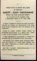Souvenir Mortuaire VANDAMME Albert (1859-1936) Né Et Mort à COURTRAI - Images Religieuses