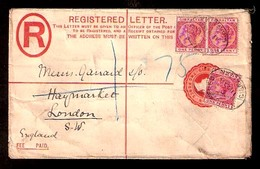 GIBRALTAR. 1913 (6 May). Puerto Mont - Valdivia. Env Fkd 1c X 15 Fiscal Provisional, Tied On Front And Reverse. VF. - Gibraltar