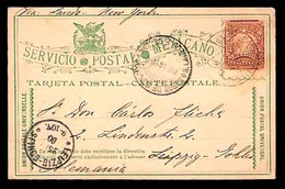 MEXICO - Stationery. 1900. Frontera (Tabasco) - Germany. Mulitas Stat. Card. - Mexique
