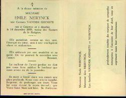 Souvenir Mortuaire VAN DER GHINSTE Carmen Ep. NEIRYNCK, E. Née Et Morte à COURTRAI En 1959 - Images Religieuses