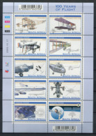 Afrique Du Sud 2003 Mi. 1532-1541 Mini Feuille 100% Neuf ** Avion - Blocks & Sheetlets