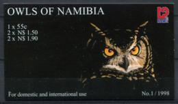 Namibie 1998 Mi. 937-941 Carnet 100% Neuf ** Hiboux - Namibia (1990- ...)