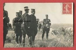 CARTE PHOTO 24 CHERVAL Le Ministre De La Guerre MARIE-GEORGES PICQUART Et Le Général MILLER Le Jour De La DISLOCATION - Personaggi