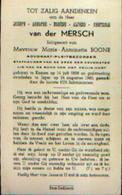 Souvenir Mortuaire Van Der MERSCH Joseph (1888-1960) Geboren Te KOMEN Overleden Te IEPER – Advokaat-pleitbezorger - Images Religieuses