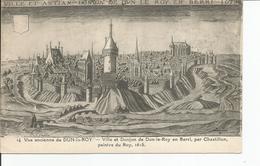 DUN LE ROY  Chateau ,dessin - Châteaux
