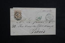 """ESPAGNE - Lettre De Barcelone Pour Paris En 1871 , Marque D 'entrée """" Espagne 4 Le Perthuis """" - L 23511 - Cartas"""