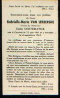Souvenir Mortuaire VAN LERBERGHE Gabrielle (1861-1943) Vve OOSTERLYNCK, E.  Née Et  Morte à COURTRAI - Images Religieuses