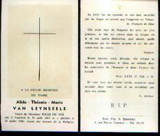 Souvenir Mortuaire VAN LEYNSEELE Alida (1861/1960) Vve DE VOS, J. Née Et  Morte à COURTRAI - Images Religieuses