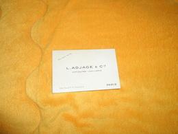CARTE PUBLICITE L. ADJAGE & CIE ANTIQUITES JOAILLERIE 24 FAUBOURG ST HONORE PARIS.. - Advertising
