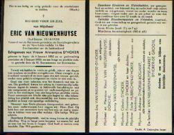 Souvenir Mortuaire VAN NIEUWENHUYSE Eric (1882-1953) Geboren En Overleden Te IEPER – Oud-strijder 14/18 - Images Religieuses