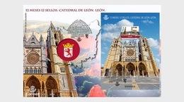 Spain 2018 - 2 Months, 12 Stamps - Leon Cathedral FDC - 1931-Aujourd'hui: II. République - ....Juan Carlos I