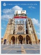 Spain 2018 - 2 Months, 12 Stamps - Leon Cathedral - Miniature Sheet Mnh - 2011-... Ungebraucht