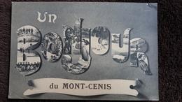 CPA UN BONJOUR DU MONT CENIS SAVOIE SKI  LETTRES 1918 - France