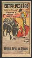 Dépliant Corrida Au Portugal Lisbonne Campo Pequeno Forcados Vale De Santarém 1949 Bullfight Flyer Lisbon - Programs