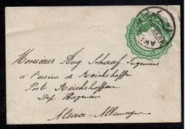 AKHMIM - EGYPTE - EGYPT / 30-12-1904 ENTIER POSTAL POUR L'ALSACE - REICHSHOFFEN (ref 7260a) - 1866-1914 Khedivato Di Egitto