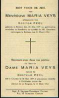 Souvenir Mortuaire VEYS Maria (1877-1945) ) Geboren Te  KORTRIJK Overleden Te HARELBEKE - Images Religieuses