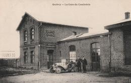 CPA:QUIÉVY (59) ANCIENNE VOITURE GARE DU CAMBRÉSIS..ÉCRITE - France