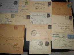 France Ceres , Lot De 11 Lettres,cartes Et 1 Devant La Plupart Pour L Etranger Etat Divers - 1871-1875 Ceres