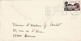 TP N° 2072 Seul Sur Enveloppe De Evry Ville Nouvelle - Marcophilie (Lettres)