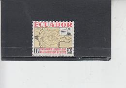 ECUADOR  1964 - Yvert  723° - Quito - Carta Geografica - Ecuador