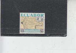 ECUADOR  1964 - Yvert  724° - Quito - Carta Geografica - Ecuador