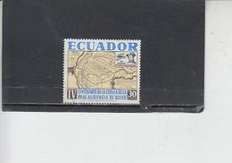 ECUADOR  1964 - Yvert  725° - Quito - Carta Geografica - Ecuador