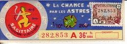 France - 424 - La Chance Par Les Astres Sagittaire - 36 ème Tranche 1954 - Loterijbiljetten