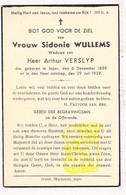 DP Sidonie Wullems ° Ieper 1859 † 1939 X Arthur Verslyp - Images Religieuses