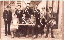 Bourg 1929 Conscrits Photo De Groupe à La Terrasse D'un Café - Bourg-en-Bresse