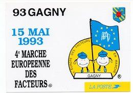 CP 93 - Gagny 4ème Marche Européenne Des Facteurs - Poste & Facteurs