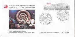 N° 2327 CACHET MINERAUX ET FOSSILES DU 8 Et 9 SEPTEMBRE 1984 - Gedenkstempel