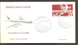 FDC 1966  Mise En Service  Du D C 8- F - Mauritanie (1960-...)