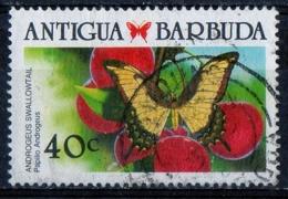 Antigua Barbuda 1988 - Farfalle Butterflies Androgeus Swallowtail - Farfalle