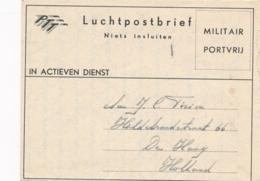 Nederlands Indië - 1948 - Militair Luchtpostblad G1 Van Padang Naar Den Haag / Nederland - Nederlands-Indië