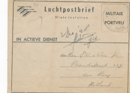 Nederlands Indië - 1948 - Militair Luchtpostblad G7 Van Veldpost Bandoeng Naar Den Haag / Nederland - Indes Néerlandaises