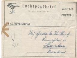 Nederlands Indië - 1949 - Militair Luchtpostblad G8 Van Bandoeng Naar Heerlen / Nederland - Nederlands-Indië