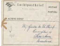 Nederlands Indië - 1949 - Militair Luchtpostblad G8 Van Bandoeng Naar Heerlen / Nederland - Indes Néerlandaises