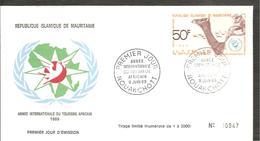 FDC 1969  TOURISME AFRICAIN - Mauritanie (1960-...)
