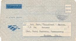 Nederlands Indië - 1950 - Militair Luchtpostblad G12a Van Veldpost Djakarta/5 Naar Koudum / Nederland - Indes Néerlandaises