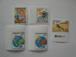 1988-9 Niger Yv 764 - 768/9 - 772 - 777 ** MNH Sujets Divers Cote 6.10 € Michel 1055 - 1059/0 - 1063 - 1068 Scott ... - Niger (1960-...)