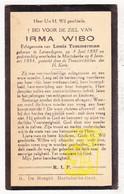 DP Irma Wibo Wybo ° Lovendegem 1897 † Mariakerke Gent 1934 X L. Temmerman - Images Religieuses
