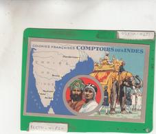 COLONIES FRANCAISES EDITION DES PRODUITS LION NOIR PARIS MONTROUGE COMPTOIRS DES INDES - Maps